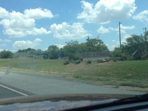 Pic of Oklahoma sign I had my grandma take since I was driving.