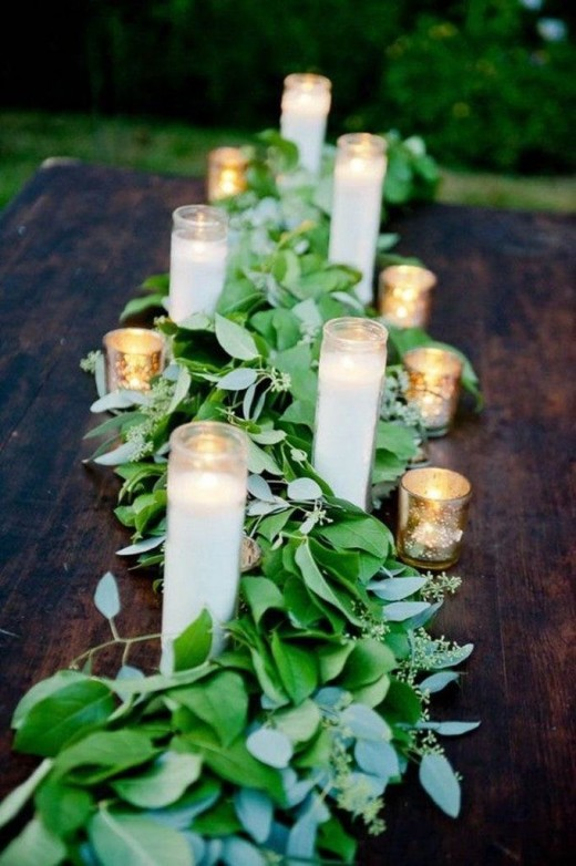 Cathedral candles. These beautiful tall candles are perfect wedding decorations or home decorations.