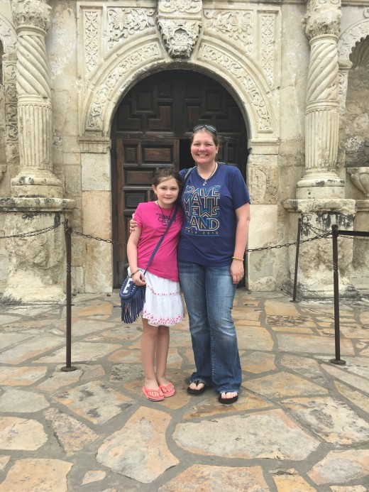 Outside of The Alamo