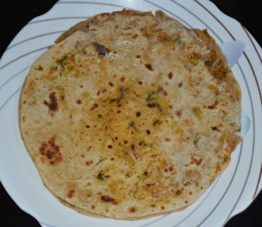 Radish paratha or radish pancake