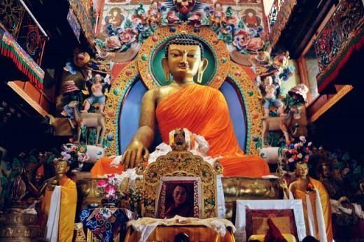 Buddha statue at Tawang Monastery, Arunachal Pradesh