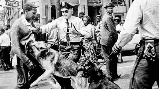 This is an iconic photo of the Alabama riots where Blacks fought to be seen as equal