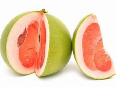 The pomelo is a natural citrus fruit. To me, it resembles an extra jumbo grapefruit visually.