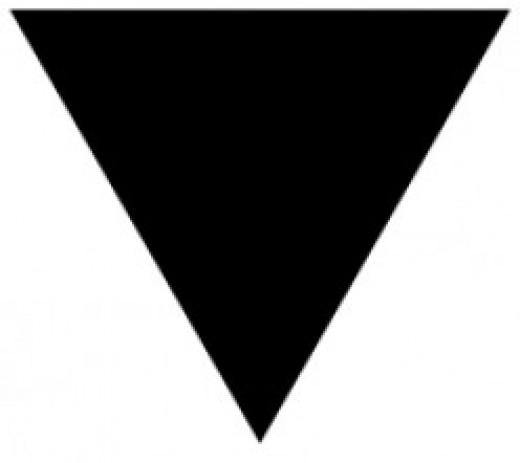Lesbian pride triangle
