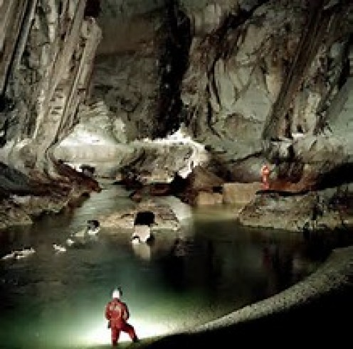 The Sarawak Chamber is on the island of Borneo, in Good Luck Cave located in Malaysia.