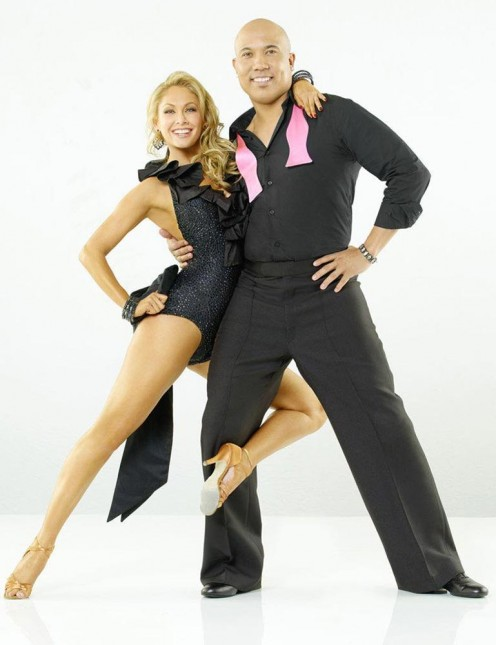 Kelly Monado and Hines Ward  DWTS.