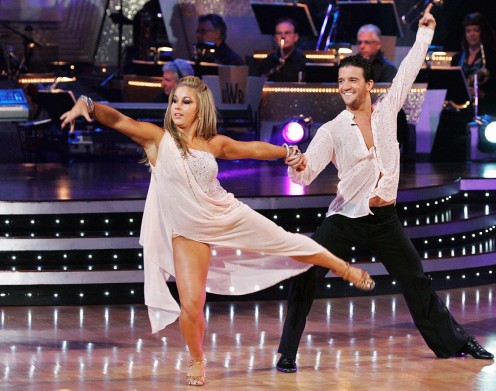 Olympic champion gymnast Shawn Johnson won with dancing partner Mark Ballas.