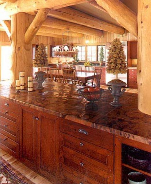 A rustic kitchen design from Kitchens.com
