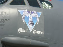 Nose art on the B-52, tail number 60-0035, at Andrews AFB, MD, May 2012.