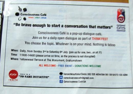Consciousness Café  a NNI initiative