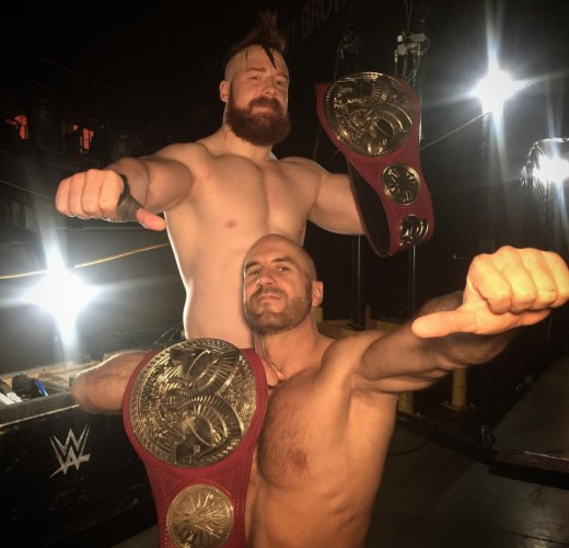 Tag Champs Sheamus and Cesaro. Photo: WWE