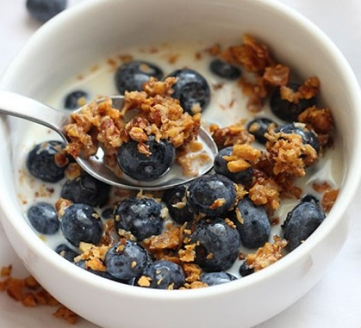 Vegan Breakfast Recipes - Blueberry Pecan Granola