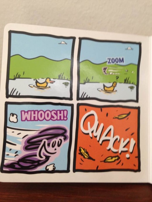 Illustration set in panels present the opportunity to learn sequencing