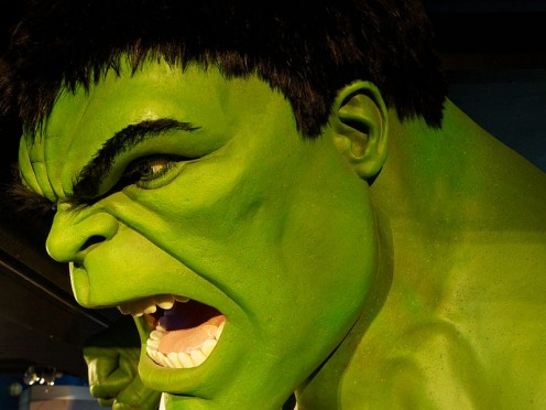 Hulk wax figure at Madame Tussauds London.