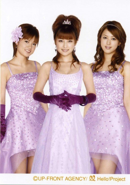 Erika Miyoshi, Rika Ishikawa (center), and Yui Okada.