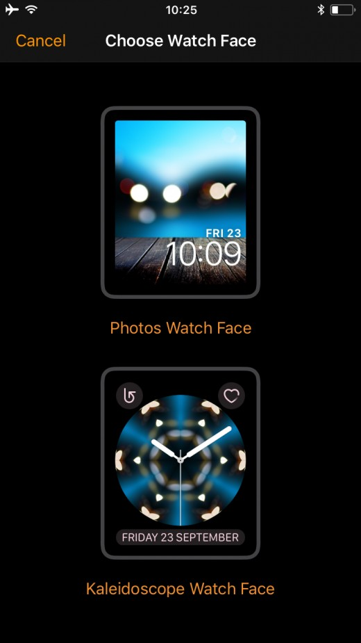 Preview Of Your Apple Watch With 2 Options