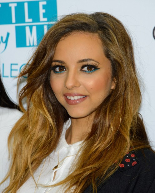 Singer Jade Thirlwall is present at an event in which Little Mix launched the event to promote their makeup brand.