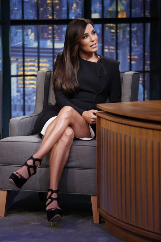 Eva Longoria on a late night talk show