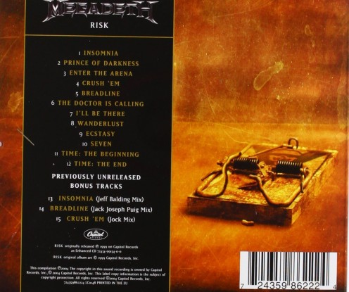 The re-mastered version of the album has a few bonus tracks in it. The cover also symbolizes the risk that the band took by making this album. They took that risk and ended up with one of their weakest albums ever.