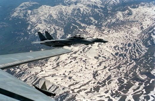 F14 'Tomcats' on patrol over Northern Iraq in 1996, but why did their 'Forward Air Controllers' (FACs) pull out?