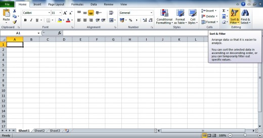 MS Excel: Sort & Filter option.