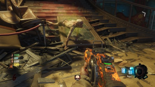 """Nova 6 Crawler from the remastered version of Black Ops Zombies """"Kino Der Toten""""."""
