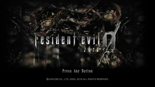 """The loading screen from Capcom's """"Resident Evil: 0"""" for the Xbox One."""