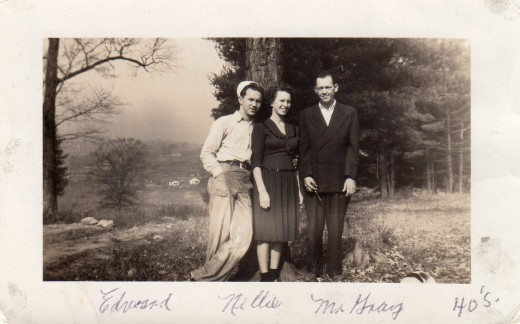 Daddy, Mama and my grandfather, Papaw, in Tennessee, my father's home State.