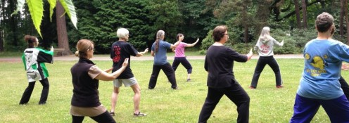 Tai Chi teaches balance, reduces stress, and helps to prevent falls.