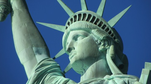 The Statue of Liberty is shown in the music video for The American Way and the statue itself symbolizes the freedoms that Americans have among many things. Let's save this country.