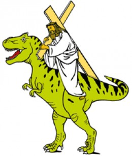 Artist's conception. The actual coloring of dinosaurs is unknown.