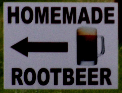 Homemade root beer is just one product available at Amish farms. Many Amish rely on cottage industry for extra income
