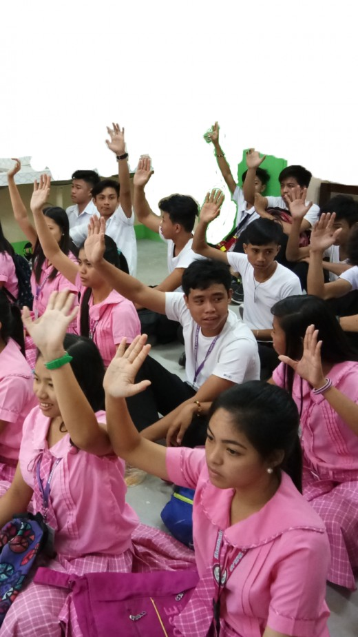 Anastacio G. Yumul High School students