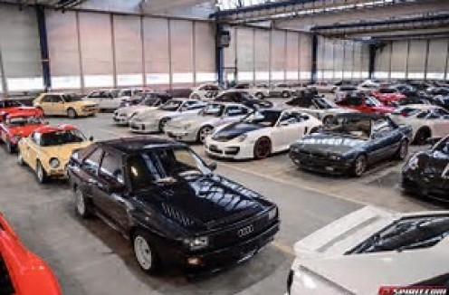 This is just a few of the Sultan's 5,000 plus cars in his auto collection.