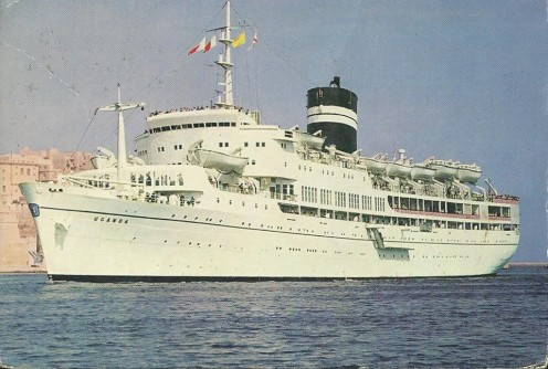 Postcard of the SS Uganda 1969