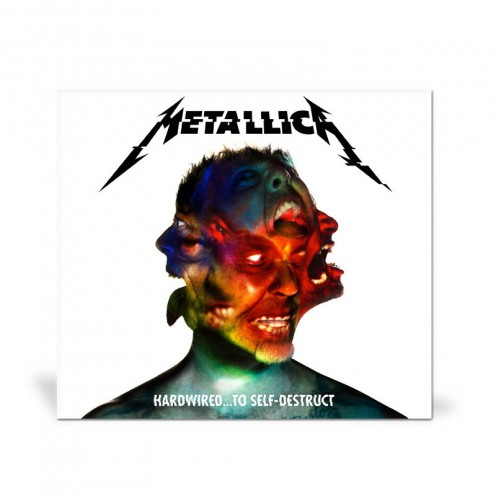 The album's cover shows the face of James Hetfield in the center.