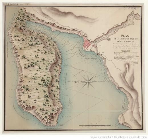 A map of Mole Saint Louis