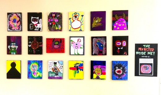 "Dec. 2016, ""The Monster Inside Me"" arts project, JCA Youth Services Department, Jacksonville, Florida"