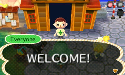 The new and confused mayor being greeted by their townspeople.