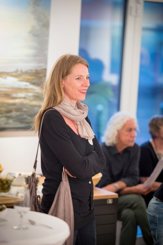 Sibylle Prange, enjoying an evening at the Knauber Galerie.
