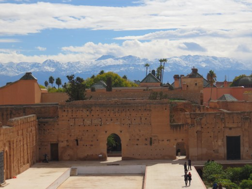 El Badii Palace with Atlas Mountains in the background