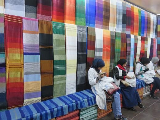 Ouarzazate local textile store