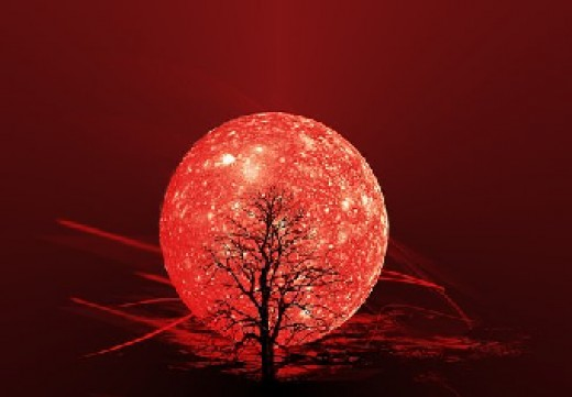 A red, Leo Moon