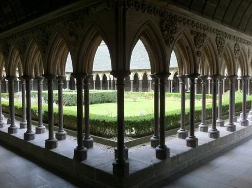 Inside the Benedictine Abbey, Le Mont Saint Michel