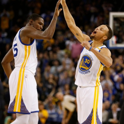 Kevin Durant and Steph Curry are one of the best duo in the NBA right now.