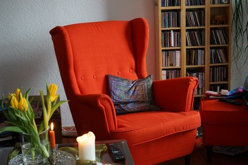The big red story chair