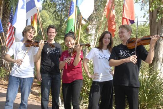 Violin Students, Participants of 2010 Keshet Eilon Summer Mastercourse