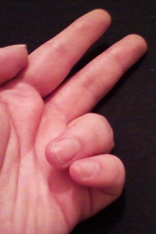 Bending Third and Fourth Finger Together