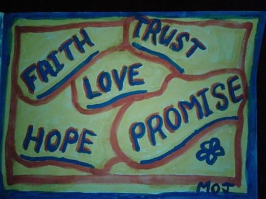 -the human need: Faith,Trust, Love, Hope, Promise