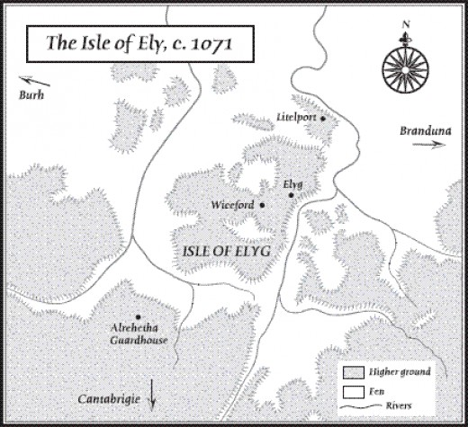 The Fenlands. Ely and several other settlements were cut off by deep lodes and muddy channels. Nowhere to ride horses into battle!
